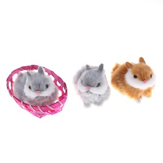 Baω Cute Hare Rabbits Furry Plush Toys Craft Collectible Gift For Children Kids ωby