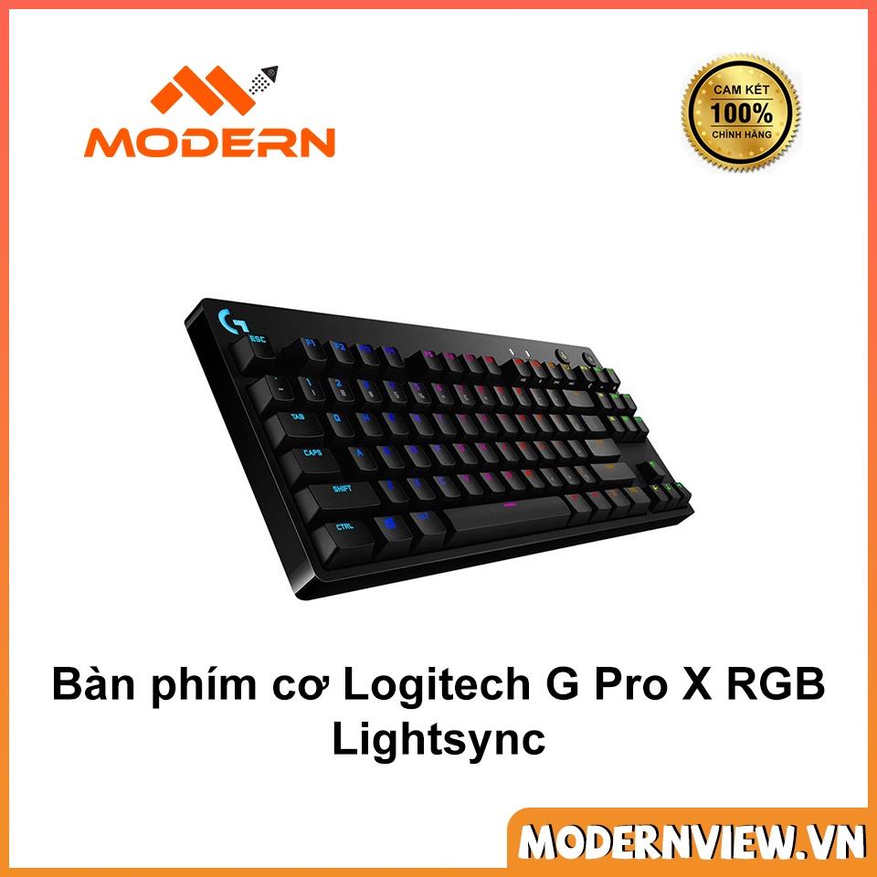 Bàn phím cơ Logitech G Pro X RGB Lightsync - Mechanical GX - Hàng chính  hãng