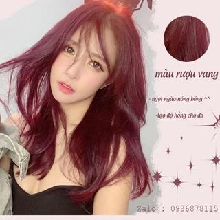 thuốc nhuộm tóc màu Đỏ Rượu Vang . thuốc nhuộm tóc tại nhà