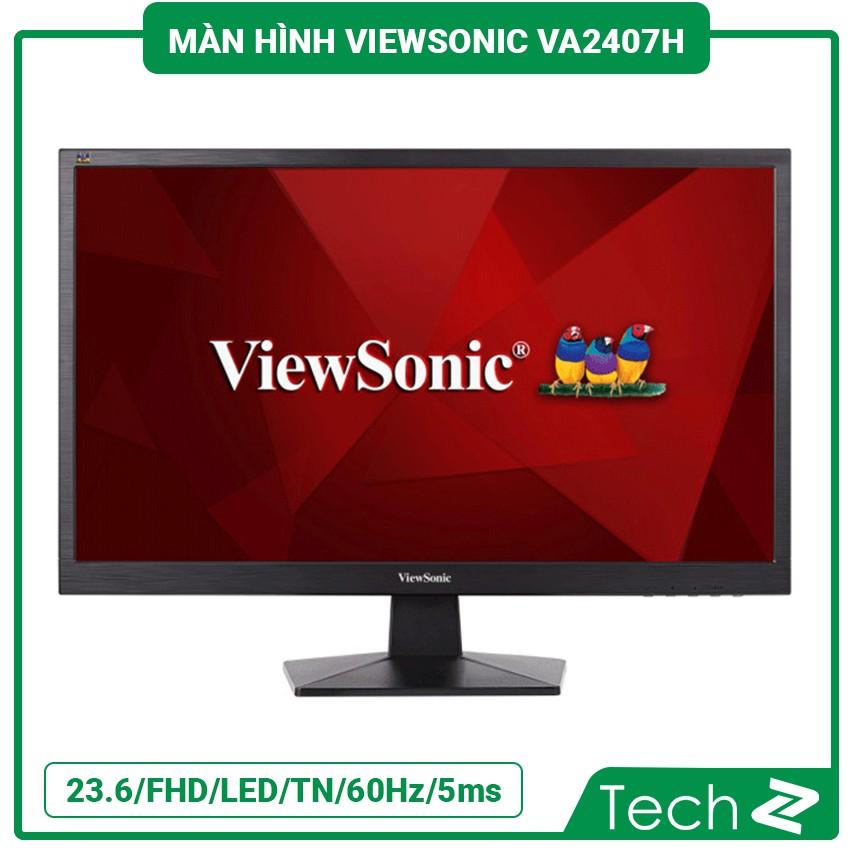 Màn Hình Viewsonic Va2407H (23.6/Fhd/Led/Tn/60Hz/5Ms/250 Nits/Hdmi+Vga)