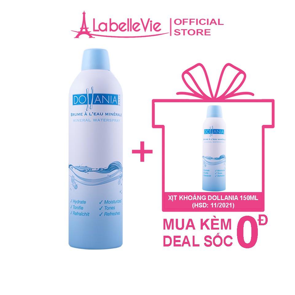 Xịt khoáng dưỡng da ẩm mượt mịn màng chính hãng Dollania Minerale 400ml (9111)