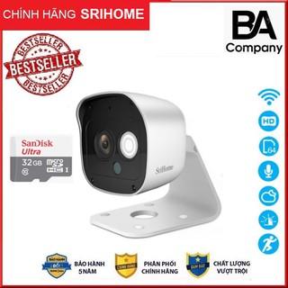 Camera Wifi Ngoài trời chống nước 3.0Mpx 1296p Srihome SH029 Hình ảnh Full HD siêu nét Thẻ 32GB Sandisk chính hãng thumbnail