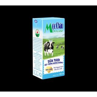 Sữa tươi 100% Không đương Mộc Châu Milk 180ml( Thùng 48 hộp)