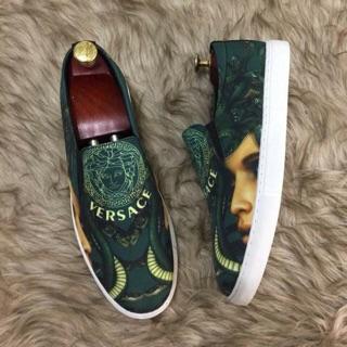 Giày Lười Nam Nư..hình 3d thương hiệu versace cho nam giới