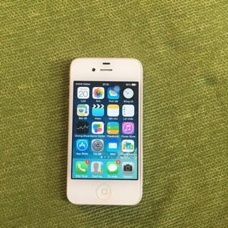 Điện thoại iphone 4 quốc tế 16gb trắng/đen 97%(+ Bút cảm ứng )