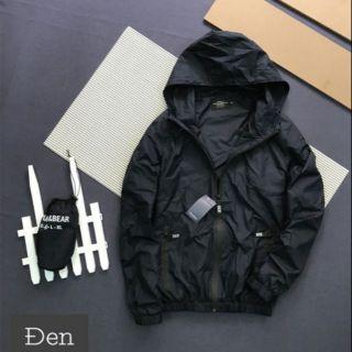 Áo khoác dù đen