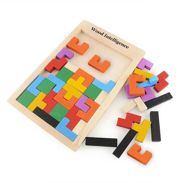 Bộ Đồ Chơi Phát Triển Tư Duy Cho Bé Tetris Wood Intelligence