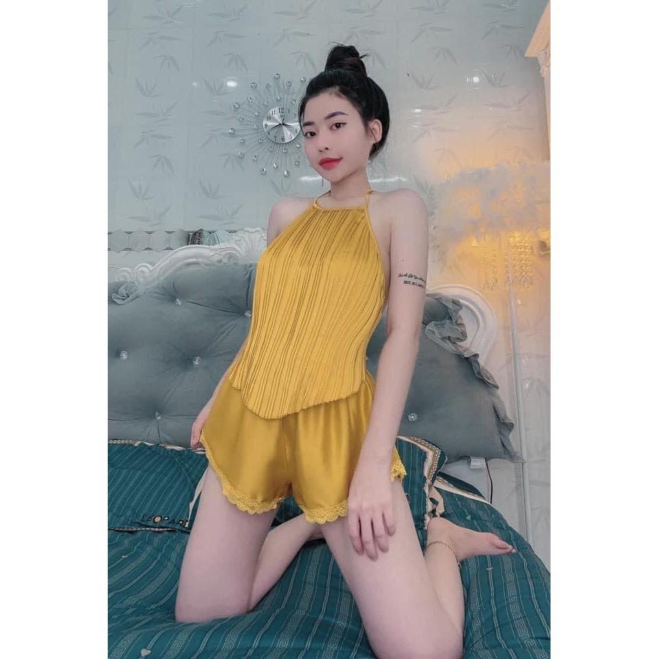 Mặc gì đẹp: Ngủ ngon hơn với Đồ ngủ sexy 💋 Yếm ngủ sexy chất Satin loại 1 mặc mát mềm mại gợi cảm - Linqu Sleepwear