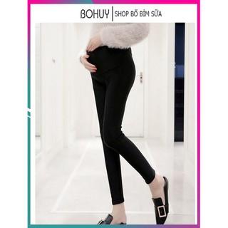 Quần bầu legging có đáp, có chun chỉnh bụng loại 1, free size BHQ08 thumbnail