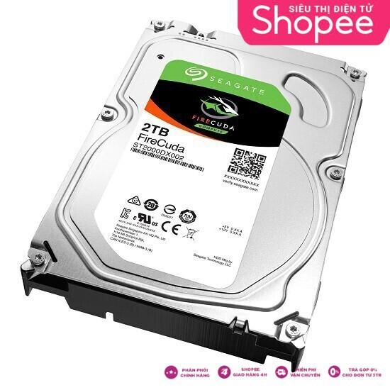 DEAL HOT TRAO TAY Ổ Cứng HDD Seagate FireCuda dung lượng 2TB/8GB/3.5 – ST2000DX002 lựa chọn hoàn hảo cho các gamer Giá chỉ 3.368.750₫