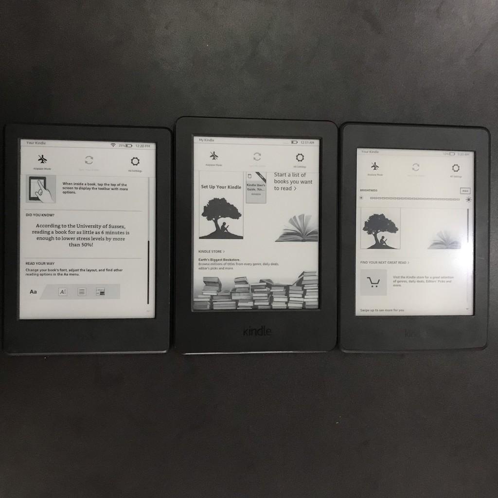 Máy đọc sách Kindle không đèn nền