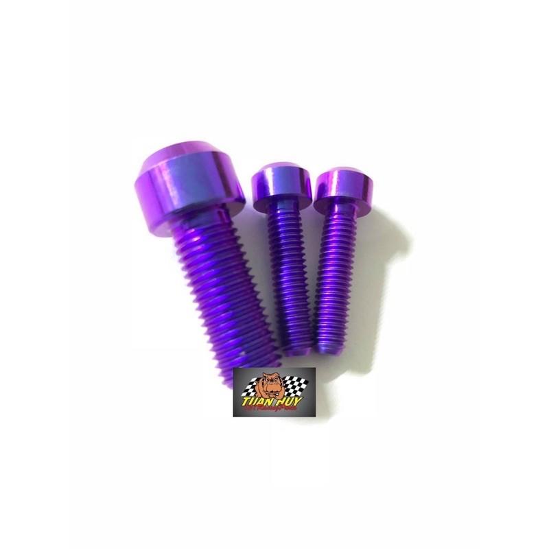 Bộ 3 ốc kiếng Rizoma Titan Gr5 để gắn ron xoay hoặc không có ron xoay kiếng