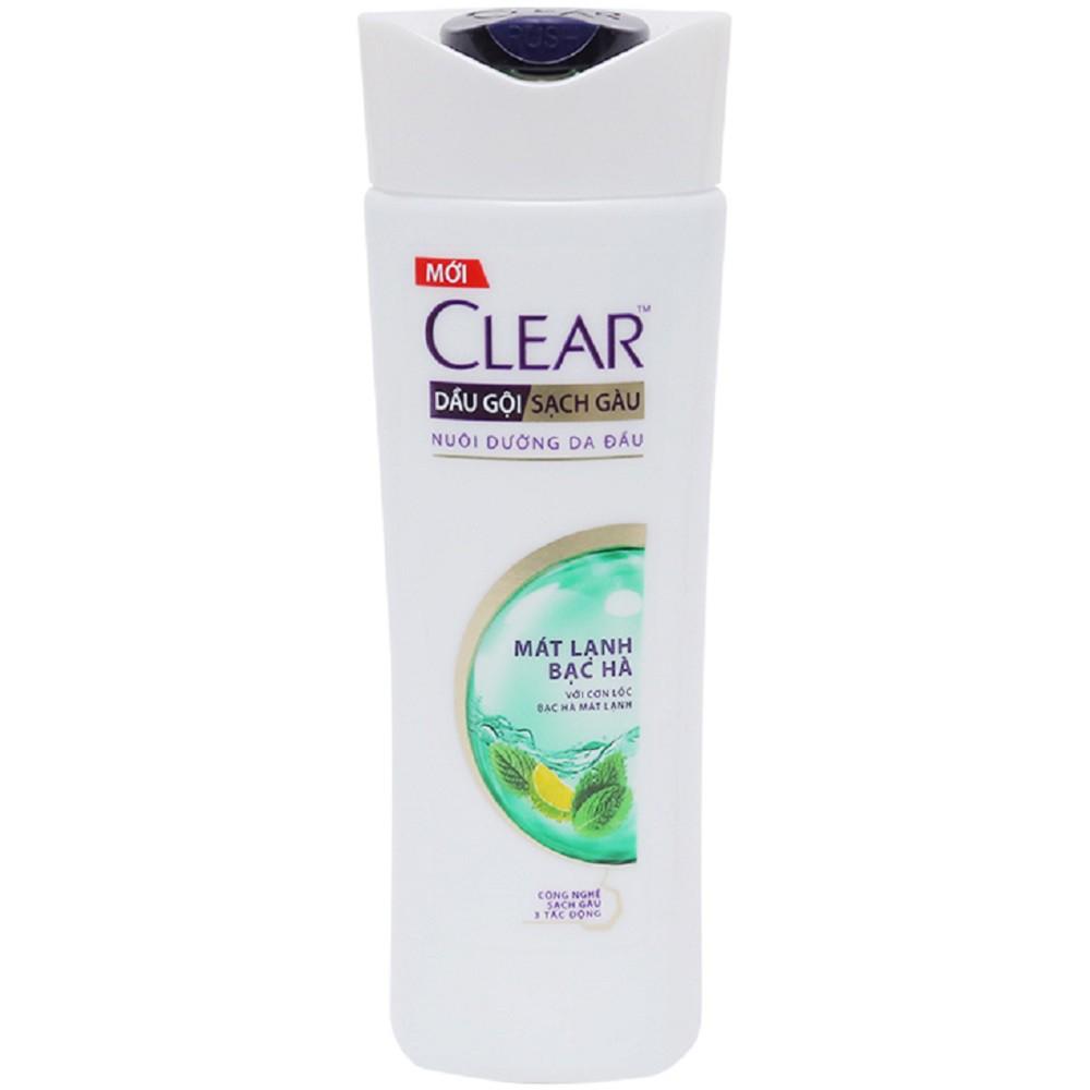 Dầu Gội Clear Sạch Gàu Mát Lạnh Bạc Hà Chai 180g 100% chính hãng, vov567 cung cấp và bảo trợ.