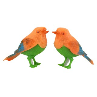 2pcs Plastic Sound Voice Control Activate Chirping Singing Birds Kids Toy Gift