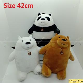 Gấu Bông We Bare Bears Cao 42 cm Nhung Siêu Cute Mềm Mại Màu Ngẫu Nhiên-TimaTimo.