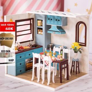 Nhà búp bê Mô hình nhà lắp ghép Jos kitchen IIE create