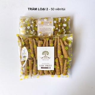 Nụ trầm hương lộc phát trầm loại 2 - trầm tự nhiên (túi 50 viên) - hình 1