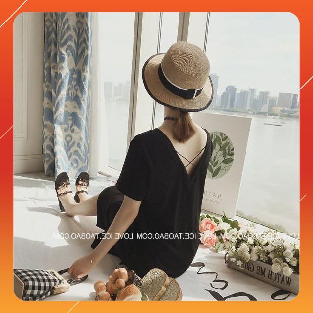 <2019> TN006 - Đầm suông lưng dây đan,thời trang ngủ đẹp,thời trang ngủ xuyên thấu mùa hè