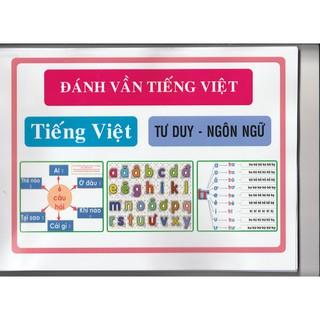 Combo 2 bộ Đánh vần Tiếng Việt và Toán Tư Duy cho bé 4- 6 tuổi