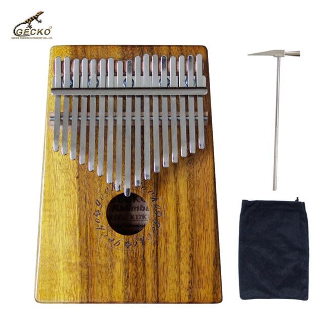 Đàn Kalimba Gecko 17 keys thump piano kèm phụ kiện chỉnh âm và bao đựng