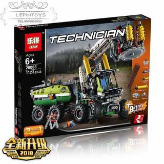 2018 New Lego Technic Toys Car 42080 Forest Harvester Lepin 20083 Lego Xe cẩu chặt cây Quà cho các bé trai