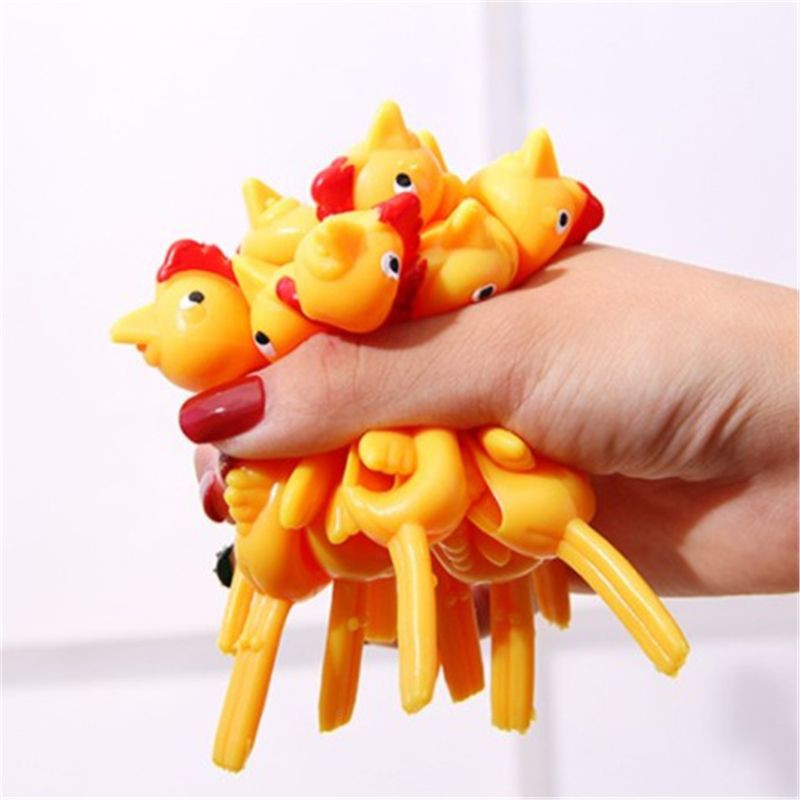 youn 3PCS Finger Birds Fun Novelty Toys Funny Joke Rubber Chicken Stretchy Flying Turkey Party Favors