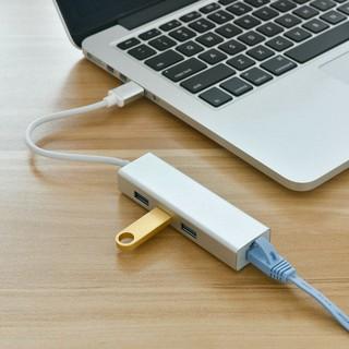[Mã ELFLASH5 giảm 20K đơn 50K] HUB USB chia 1 ra 3 cổng USB 3.0 và 1 cổng LAN 100Mbps vỏ nhôm