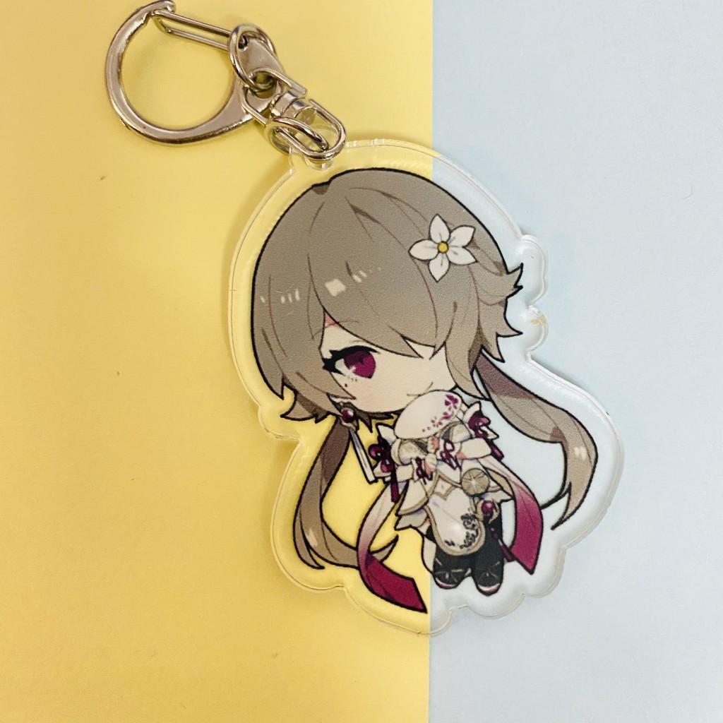 ( Mica trong acrylic ) Móc khóa anime HONKAI IMPACT ver HÁN PHỤC chibi anime