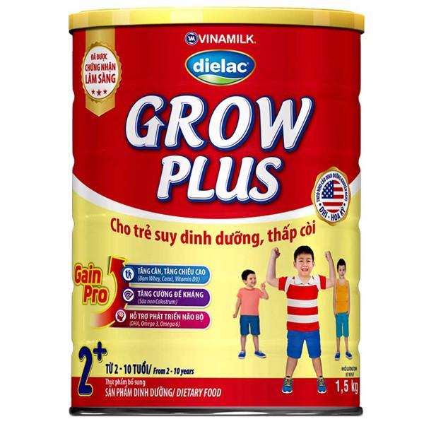 [TKB0718W3B-giảm3%-tốiđa20k] Sữa Dielac Grow Plus 2+ Hộp 1500gram