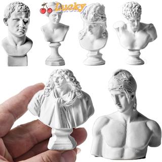 LUCKY Miniature Plaster Bust Statue Crafts Greek Mythology Figurine Gypsum Portraits Home Decor Desktop Ornament Drawing Practice Nordic Style Famous Sculpture