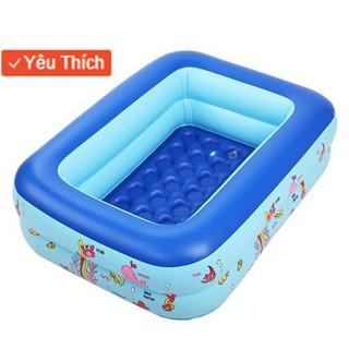 [FLASH SALE] Bể phao bơm hơi cho bé 2 tầng 1m2 kèm 100 bóng kính bơi bơm điện