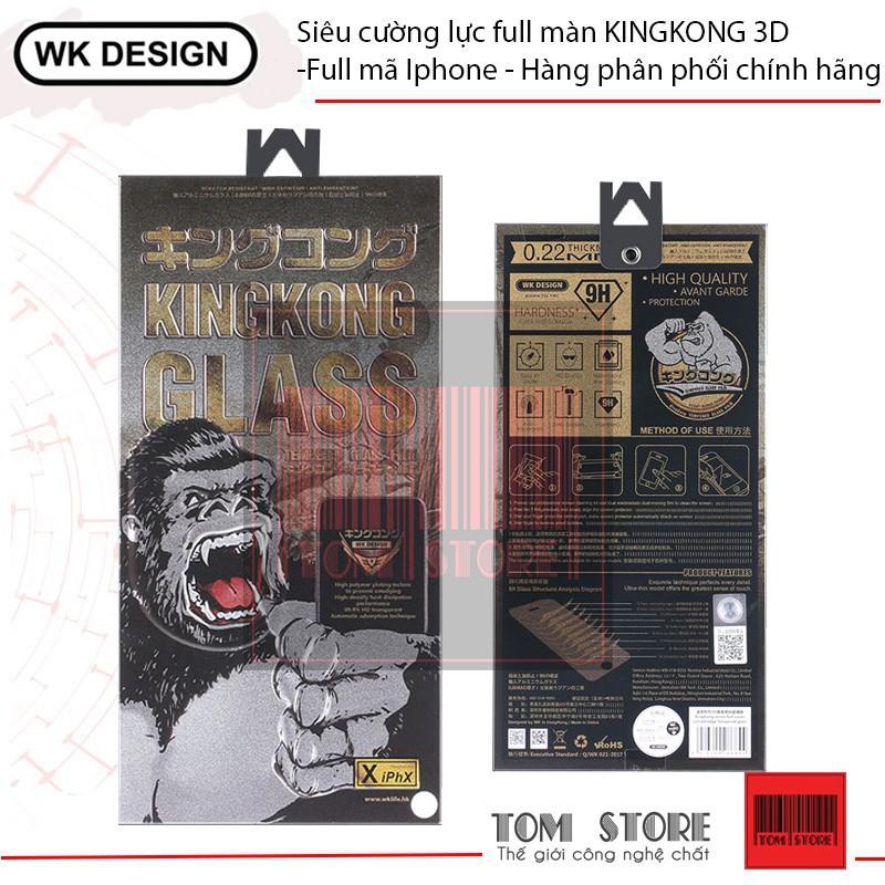 Siêu cường lực full màn KINGKONG 3D -Full mã Iphone - Hàng phân phối chính hãng