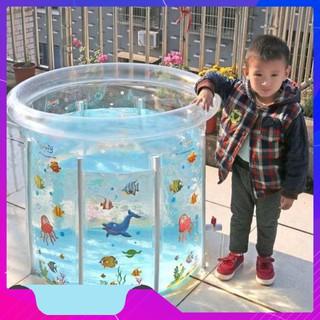 [GIÁ SỐC] Bể Bơi Khung Tròn Kèm Phao Cổ Cho Bé Yêu Cỡ 80x80cm