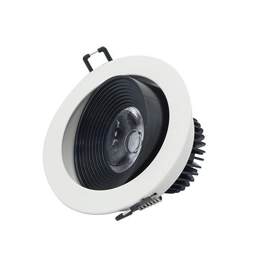 Đèn âm trần xoay góc 9W LED Rạng Đông, vỏ nhôm đúc, cánh tản nhiệt, khoét lỗ 95mm