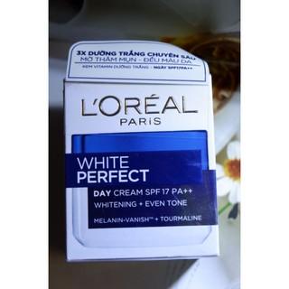 Kem Dưỡng Trắng Sáng L'Oreal White Perfect – Ngày SPF17 PA++