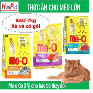 Me-o bao 7kg Thức ăn dạng hạt cho mèo lớn vị CÁ NGỪ & HẢI SẢN&cá thu đồ ăn mèo trưởng thành thumbnail