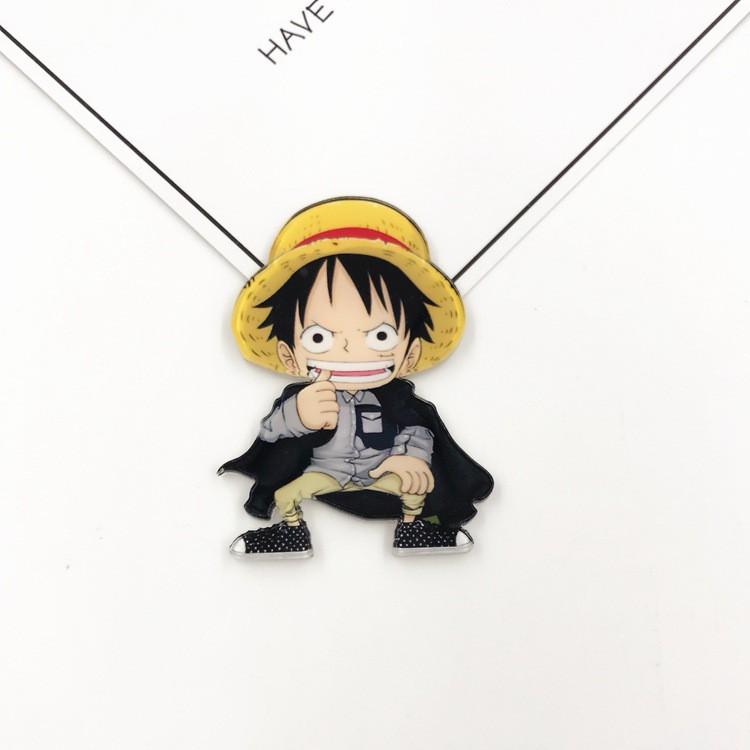 Huy hiệu, pin cài balo áo quần đủ bộ sậu đảo hải tặc One Piece