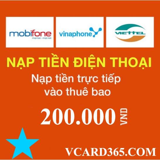 Nạp Thẻ Viettel 200K - 3365823 , 760048981 , 322_760048981 , 200000 , Nap-The-Viettel-200K-322_760048981 , shopee.vn , Nạp Thẻ Viettel 200K