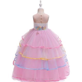Đầm sát nách phối vải voan tầng kiểu dáng dễ thương cho bé gái