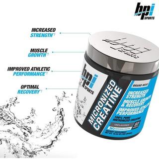 Creatine Giúp Tăng Sức Mạnh, Sức Bền 🔥 Pre Workout, BPI Creatine Monohydrate 600g (120 Lần Dùng) – Protein Center