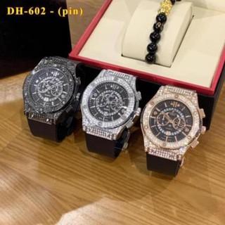 [Tặng Box] Đồng hồ nam nữ Hublot - unisex cặp đôi dây cao su - Bảo hành 12 tháng - Shop5423 thumbnail