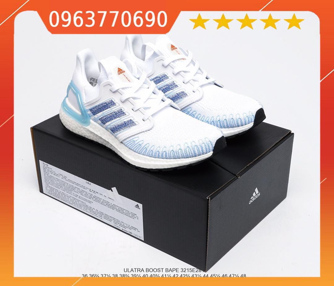 Giày thể thao Adidas Ultraboost 2020 Ub 6.0 Light Blue Primeknit Du Lịch Giày Sneaker Thể Thao Fy3454