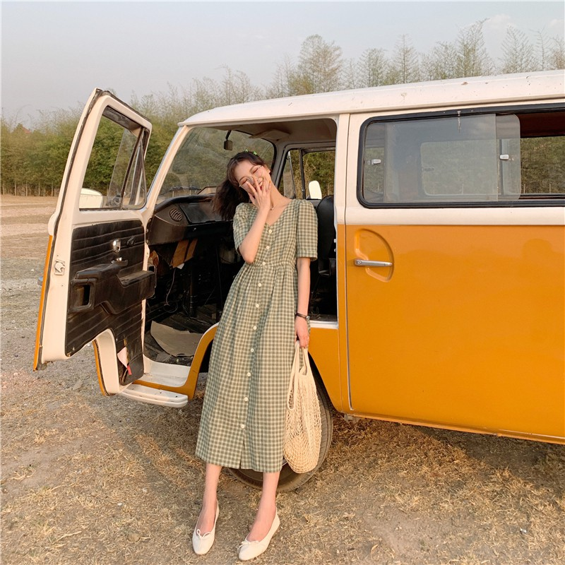 Váy caro 3 màu