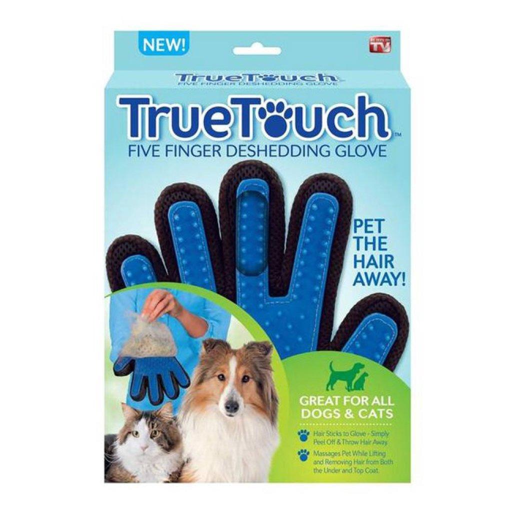 ถุงมือแปรงขนสุนัข true touchัตว์เลี้ยง ถุงมือแปรงขนสุนัข true touch