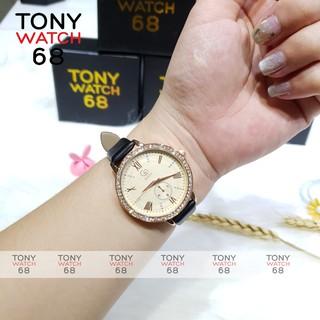 Đồng hồ nữ Guou mặt tròn dây da chính hãng chống nước Winsley thumbnail