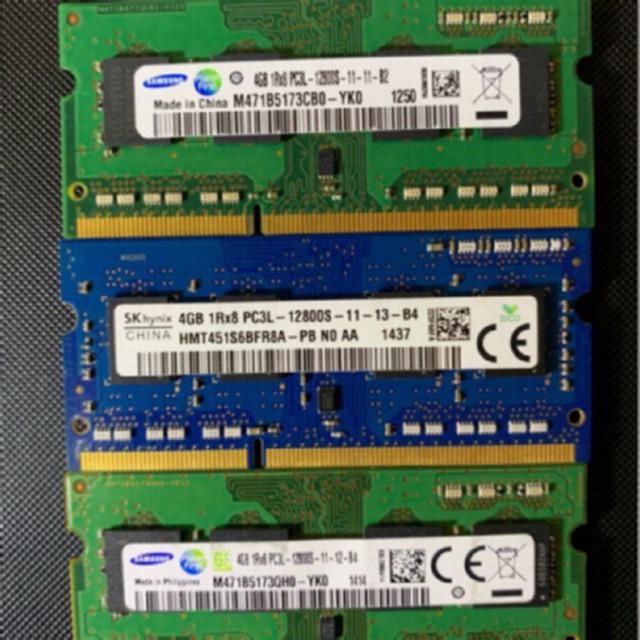 Ram Laptop DDR3L (PC3L) 8GB, 4GB Bus 1600 (Sam/Hynix/Kingston Bảo hành 36 Tháng)