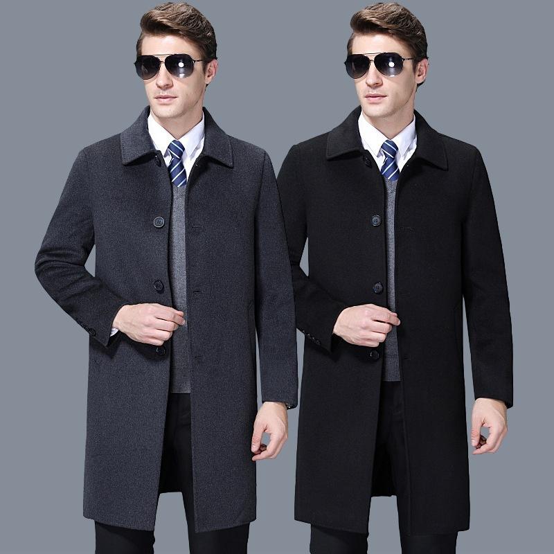 เสื้อโค้ทขนสัตว์หน้าคู่, เสื้อกันลมยาว, แคชเมียร์ไม่มี, แจ็คเก็ตหน้าคู่, เสื้อโค้ทขนสัตว์ผู้ชายฤดูใบไม้ร่วงและฤดูหนาว