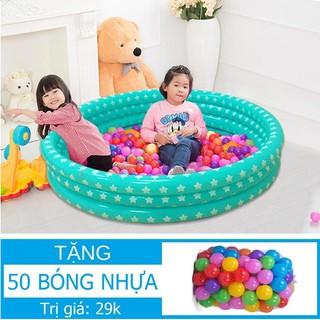 SALE Nhà bóng tròn 3 tầng (Chọn Kích thước) Tặng 50 bóng nhựa Hồ bơi Phao bơi Nhà banh Bể bơi