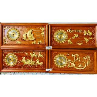 [ HÀNG CAO CẤP ] Tranh đồng hồ treo tường gỗ hương dát vàng chạm chữ – BAO HÀNH 1 ĐỔI 1 – HOÀN TIỀN NẾU SAI SẢN PHẨM