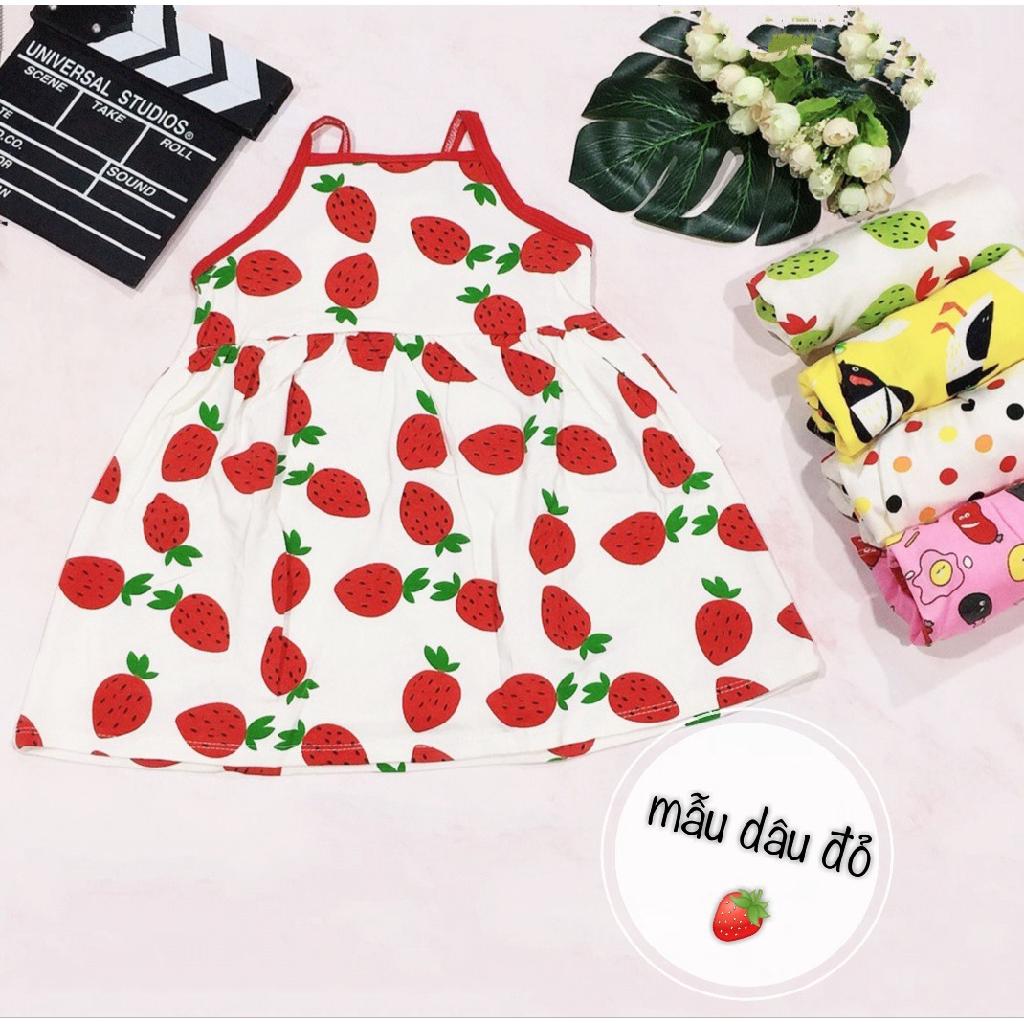 Váy 2 dây cotton bozip QATE563 cho bé gái